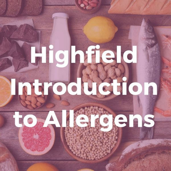 Highfield Introduction to Allergens E-learning Course | Verrolyne Training
